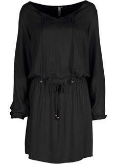 Платье (черный/цвет белой шерсти с рис) Bonprix