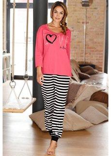 Пижама (нежный ярко-розовый в полоску) Bonprix
