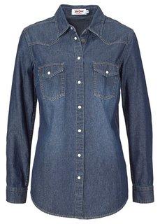 Джинсовая рубашка (нежно-голубой выбеленный) Bonprix
