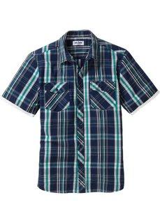 Рубашка Regular Fit с коротким рукавом (белый в клетку) Bonprix
