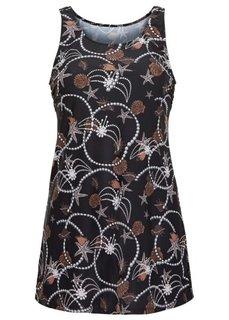 Пляжное платье из купального материала (натуральный/коричневый) Bonprix