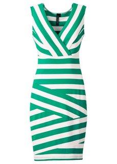 Платье без рукавов (черный/белый) Bonprix