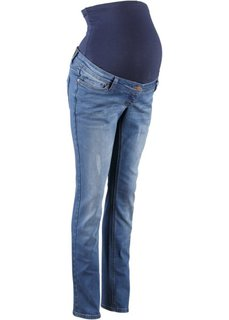 Мода для беременных: джинсы Boyfriend с отворотами (темно-синий «потертый») Bonprix