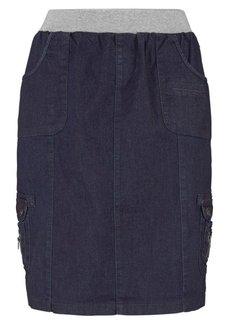 Джинсовая юбка-карго (синий «потертый») Bonprix