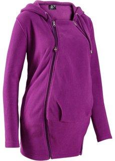 Мода для беременных: флисовая куртка со вставкой для малыша (черный) Bonprix