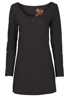 Удлиненная футболка (оливковый) Bonprix