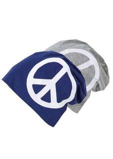 Трикотажная шапочка (2 шт.) (черный/белый + серый/ярко-розо) Bonprix