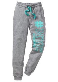Трикотажные брюки со стильным принтом, Размеры 116-170 (черный) Bonprix