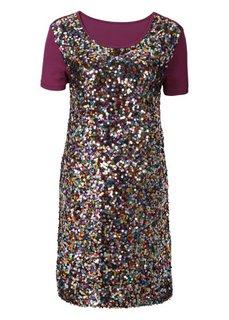 Трикотажное платье с пайетками (черный) Bonprix