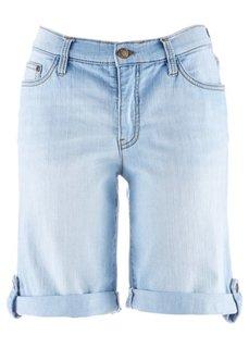Джинсовые шорты-стретч (синий «потертый») Bonprix