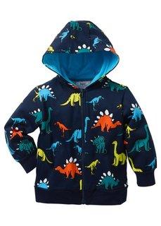 Трикотажная куртка с капюшоном, Размеры 80/86-128/134 (светло-серый меланж с рисунком) Bonprix