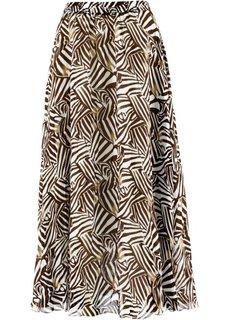 Длинная юбка (цвет белой шерсти/черный с рис) Bonprix