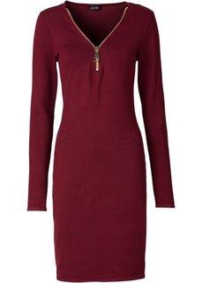 Вязаное платье на молнии (черный) Bonprix