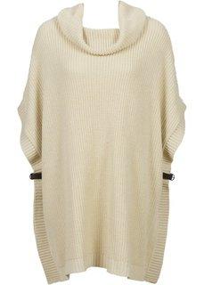 Вязаный пуловер в стиле оверсайз (черный) Bonprix