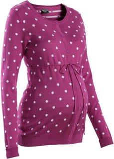 Мода для беременных: кардиган в горошек (темно-синий/белый в горошек) Bonprix