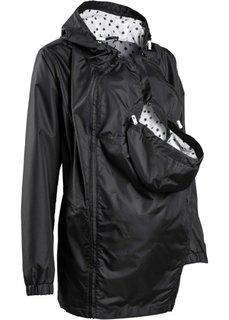 Мода для беременных: куртка со вставкой для малыша (темно-синий/белый в горошек) Bonprix