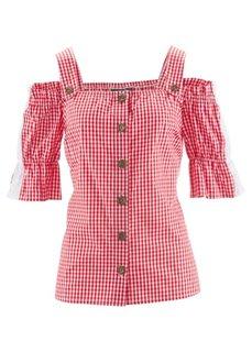 Традиционная клетчатая блузка (небесно-голубой/белый в клетку) Bonprix