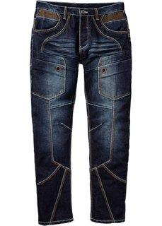 Джинсы Regular Fit Straight, длина (в дюймах) 32 (темно-синий «потертый») Bonprix