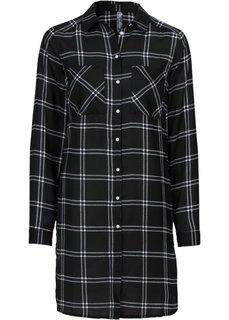 Удлиненная блузка (темно-синий/цвет белой шерсти ) Bonprix