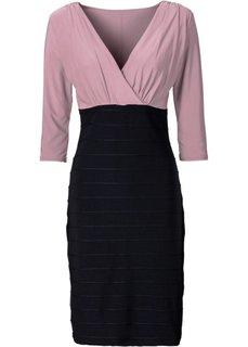 Платье (черный/серо-коричневый) Bonprix
