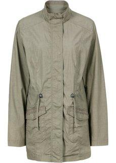 Демисезонная куртка с кружевной отделкой (цвет мальвы) Bonprix