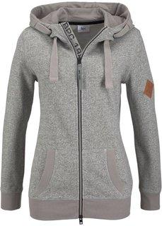 Трикотажная куртка (клубничный меланж) Bonprix