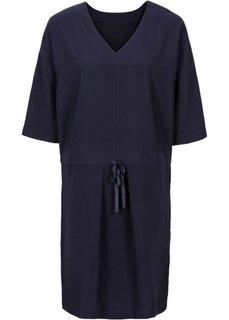 Платье (темно-синий/цвет белой шерсти ) Bonprix