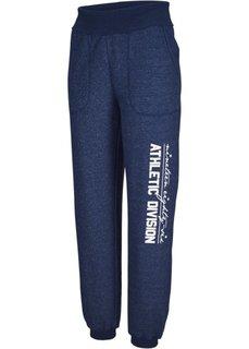 Трикотажные брюки с отворачиваемым поясом (клубничный) Bonprix