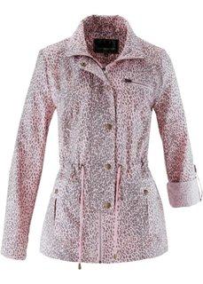Удлиненная куртка с леопардовым принтом (белый/нейтрально-серый с принт) Bonprix