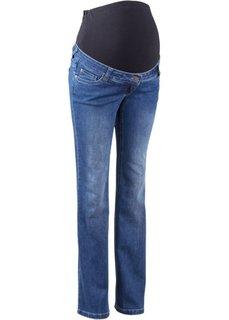 Для будущих мам: джинсы Bootcut (коротких и длинных размеров), низкий рост (K) (темный деним) Bonprix