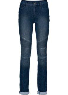 Байкерские брюки Skinny (черный деним) Bonprix