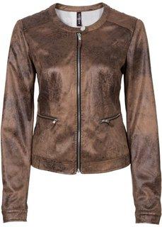 Куртка из искусственной замши (черный «потертый») Bonprix