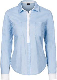 Блузка (цвет белой шерсти/темно-синий) Bonprix