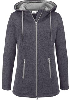 Вязаная флисовая куртка (темно-бирюзовый меланж) Bonprix