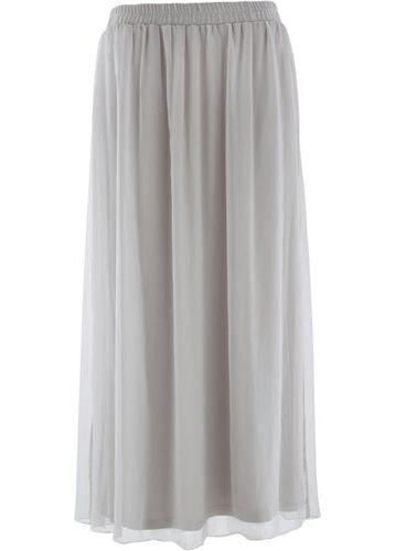 Длинная шифоновая юбка (черный)