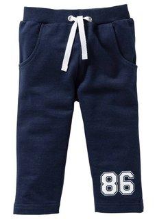 Мода для малышей: трикотажные брюки из биохлопка (2 шт.), Размеры  56/62-104/110 (темно-синий/антрацитовый мелан) Bonprix