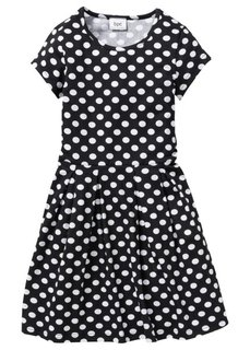 Трикотажное платье с принтом, Размеры  116/122-164/170 (красный/белый в горошек) Bonprix
