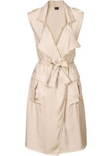 Платье с эффектом запаха (оливковый) Bonprix
