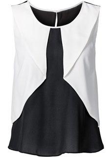 Топ (цвет белой шерсти/черный) Bonprix