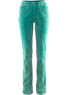 Вельветовые брюки-стретч STRAIGHT, cредний рост (N) (изумрудный) Bonprix