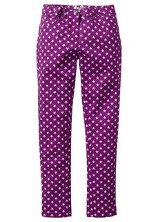 Твиловые брюки-скинни с принтом звездочек, Размеры  116-170 (ледниково-синий) Bonprix