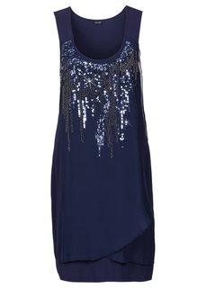 Платье с пайетками (телесный) Bonprix