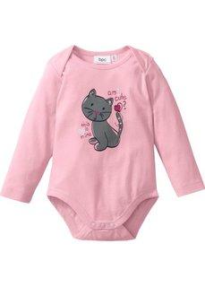 Мода для малюток: боди из биохлопка, Размеры  56/62-92/98 (розовая пудра/голубой/цвет бел) Bonprix