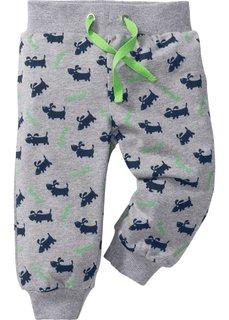 Мода для малышей: трикотажные брюки из биохлопка (2 шт.), Размеры  56/62-104/110 (светло-серый меланж/темно-сини) Bonprix
