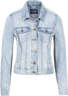 Джинсовая куртка (белый деним) Bonprix