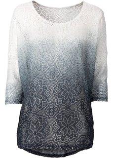 Кружевная футболка (нежно-персиковый/цвет белой ше) Bonprix