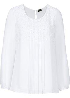 Блузка с красивой отделкой (черный) Bonprix