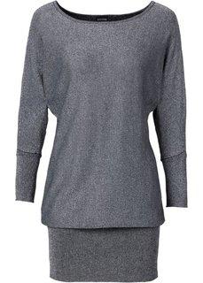 Люрексовый пуловер (черный) Bonprix