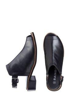 Кожаные босоножки (черный) Bonprix