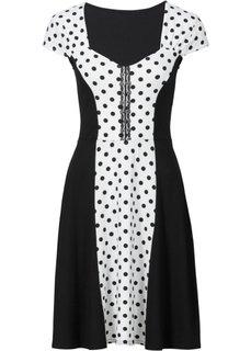 Платье в горошек (аква/черный в горошек) Bonprix